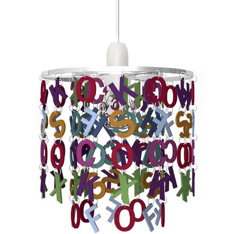 Suspension, enfant acrylique multicolore SEYNAVE Alphabet 1 lumière ...
