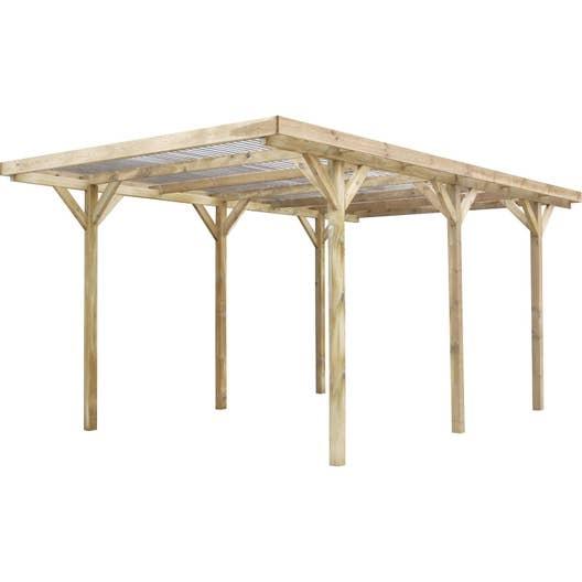 carport bois max 1 voiture m leroy merlin. Black Bedroom Furniture Sets. Home Design Ideas