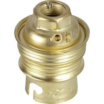 Douille électrique à vis B22 laiton, or