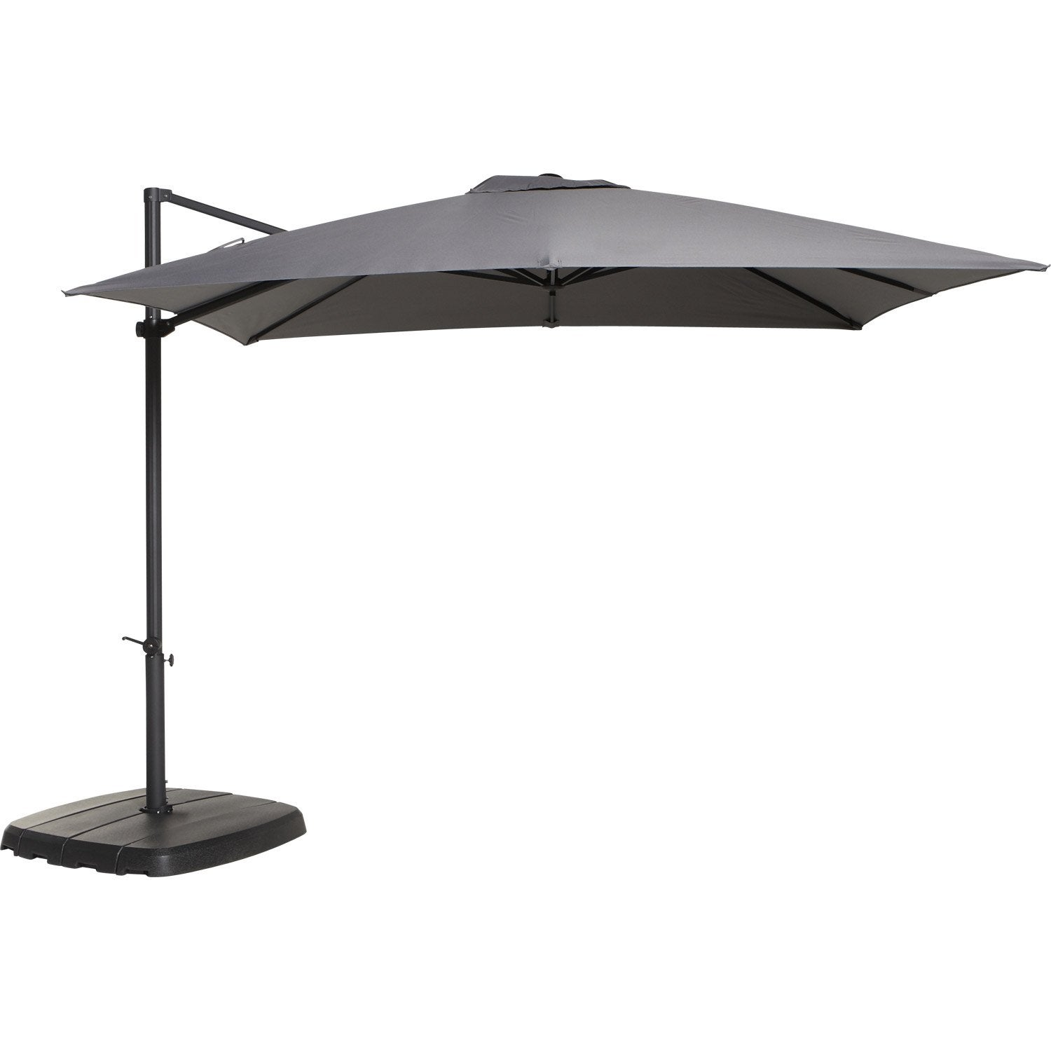parasol d port argos gris rond x cm leroy. Black Bedroom Furniture Sets. Home Design Ideas