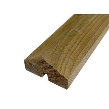Profil de finition bois Douglas marron, H.220 x l.3.3 x P.7 cm