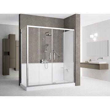 Kit de remplacement baignoire par douche en angle 70X170 cm, Elyt evolution 2.0
