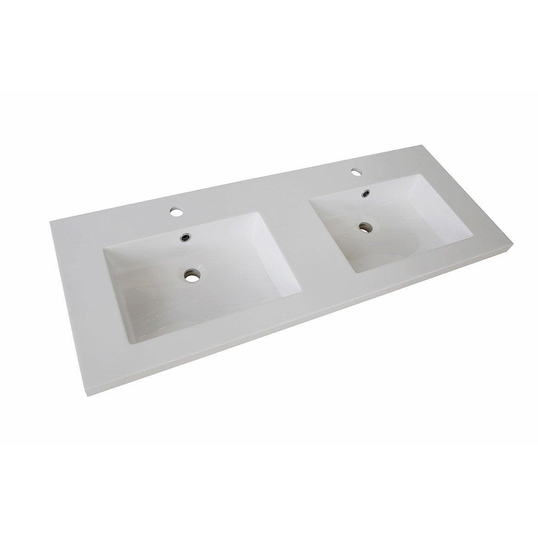 Plan vasque double Promo Résine de synth¨se 120 cm