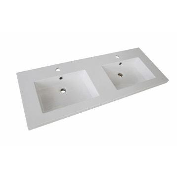 plan vasque double promo rsine de synthse 120 cm - Dimension Lavabo Salle De Bain
