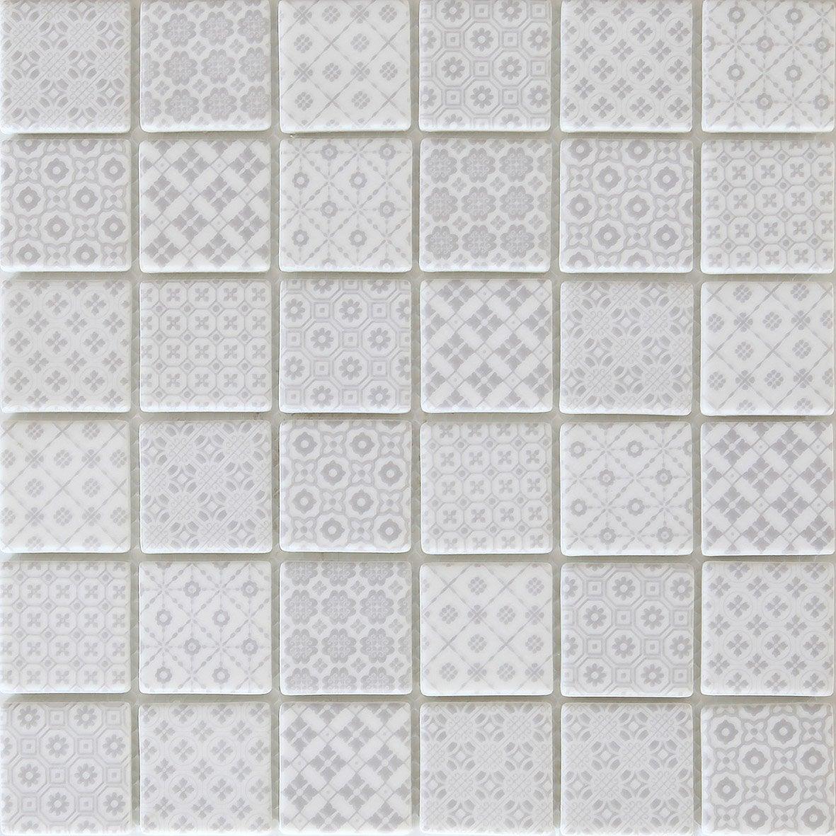 Mosaïque mur Graphik cement gris