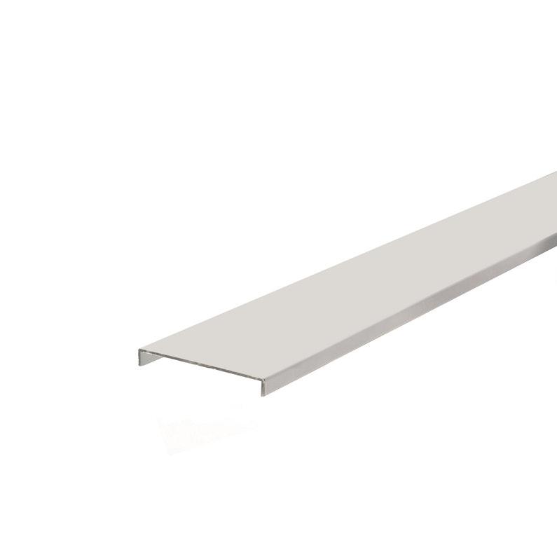 Nez De Cloison Aluminium Blanc 78x10mm 2m60