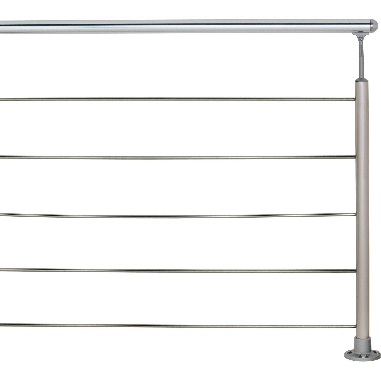 5 tubes inox longueur 199cm diam 10mm obapi leroy merlin. Black Bedroom Furniture Sets. Home Design Ideas
