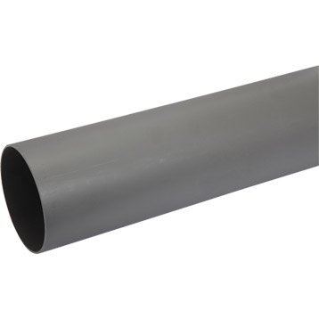 Tube d'évacuation PVC, Diam.100 mm, L.1 m