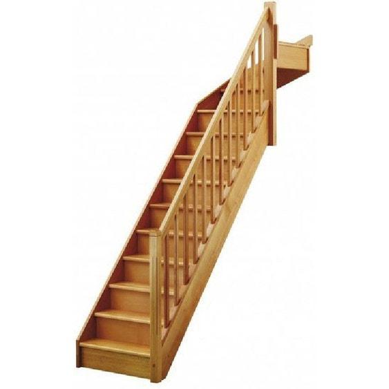 escalier soft quart tournant haut droit h274 rampe classic structure marche bois leroy merlin. Black Bedroom Furniture Sets. Home Design Ideas