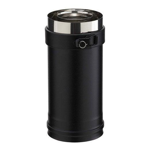 tuyau pour conduit double paroi poujoulat, d80 mm 0.25 m | leroy