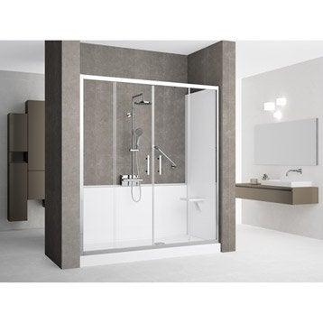 Kit de remplacement baignoire par douche en niche 90X160 cm, Elyt evolution 2.0