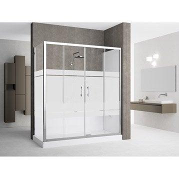 Kit de remplacement baignoire par douche en angle 90X160 cm, Elyt evolution 2.0