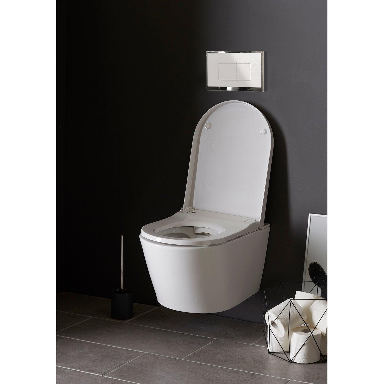 wc japonais suspendu lavant bati universel leroy merlin. Black Bedroom Furniture Sets. Home Design Ideas