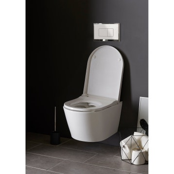 wc japonais douchette abattant wc suspendu toilette au meilleur prix leroy merlin. Black Bedroom Furniture Sets. Home Design Ideas