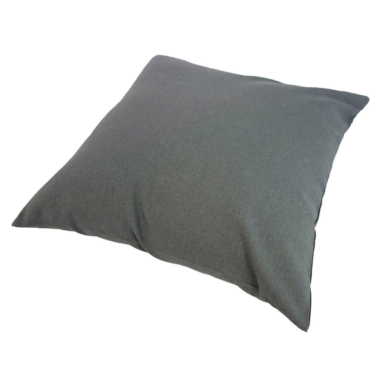 Coussin d'assise de chaise ou fauteuil Sunny INSPIRE, gris foncé l.40 x H.40 cm