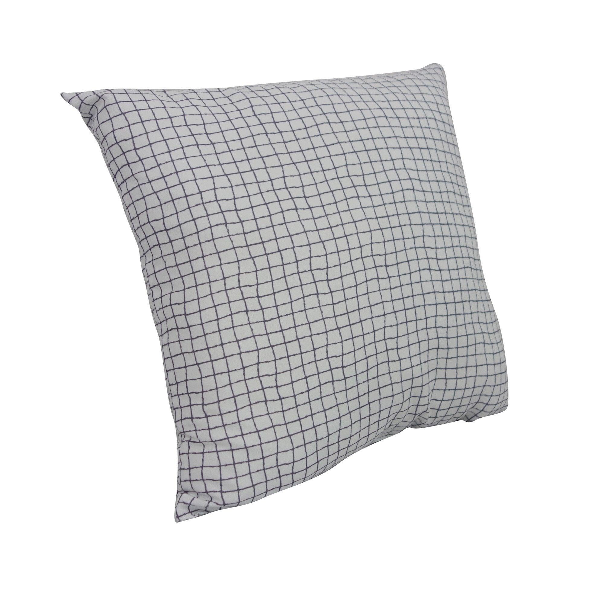 Coussin Romy INSPIRE, blanc/gris l.35xH.35 cm