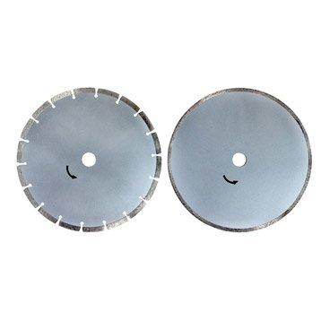 Lot de 2 disques diamant pour matériaux de construction, Diam.230 mm