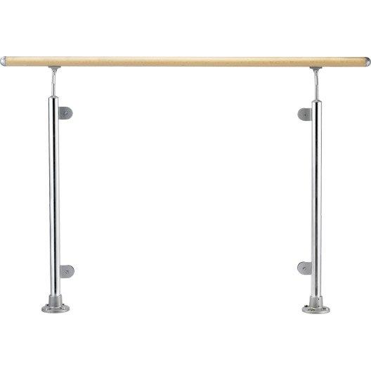 Rampe d 39 escalier main courante au meilleur prix leroy for Prix decoupe verre leroy merlin