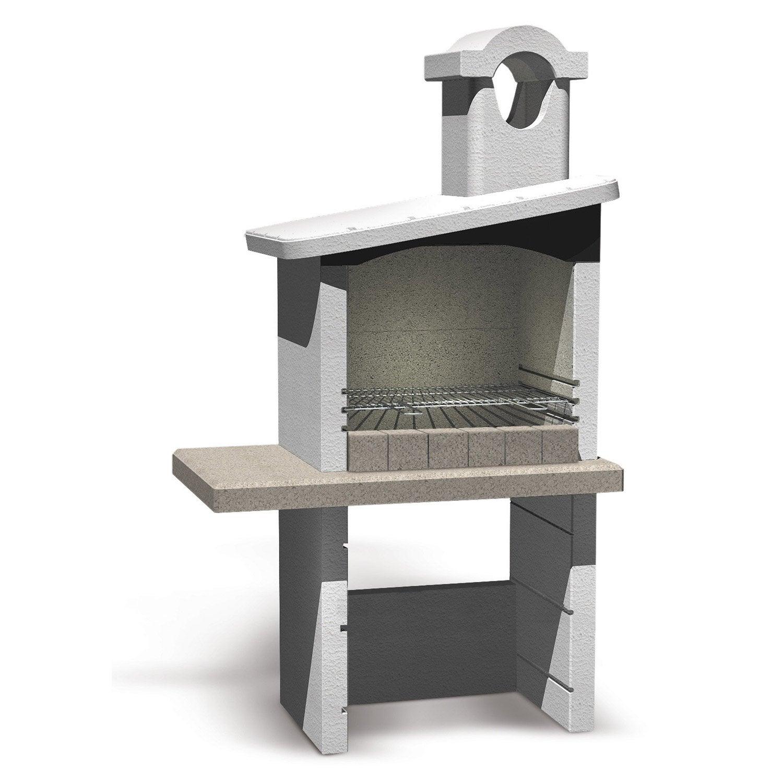 barbecue en b ton blanc enna x x cm. Black Bedroom Furniture Sets. Home Design Ideas