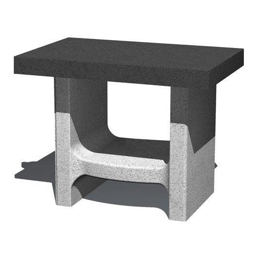 support plancha en b ton gris et noir happy lilly x x cm leroy merlin. Black Bedroom Furniture Sets. Home Design Ideas
