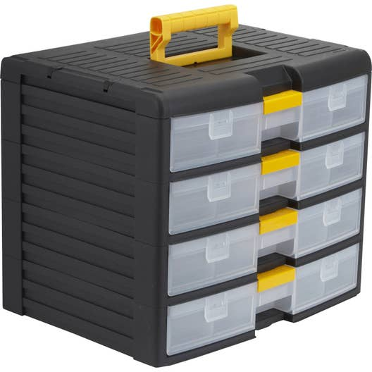 casier vis plastique 4 tiroirs h 33 4 x l 39 1 x p 29 cm leroy merlin. Black Bedroom Furniture Sets. Home Design Ideas