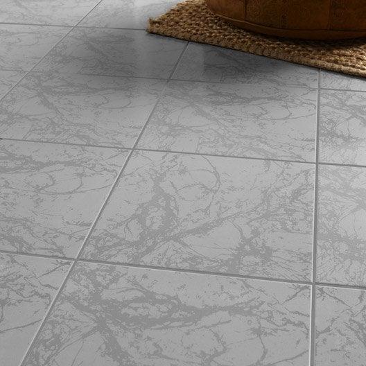 Carrelage sol et mur effet marbre polaire leroy merlin - Carrelage marbre leroy merlin ...