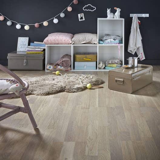 parquet contrecoll ch ne gris clair vitrifi multifrise xxl barlinek leroy merlin. Black Bedroom Furniture Sets. Home Design Ideas