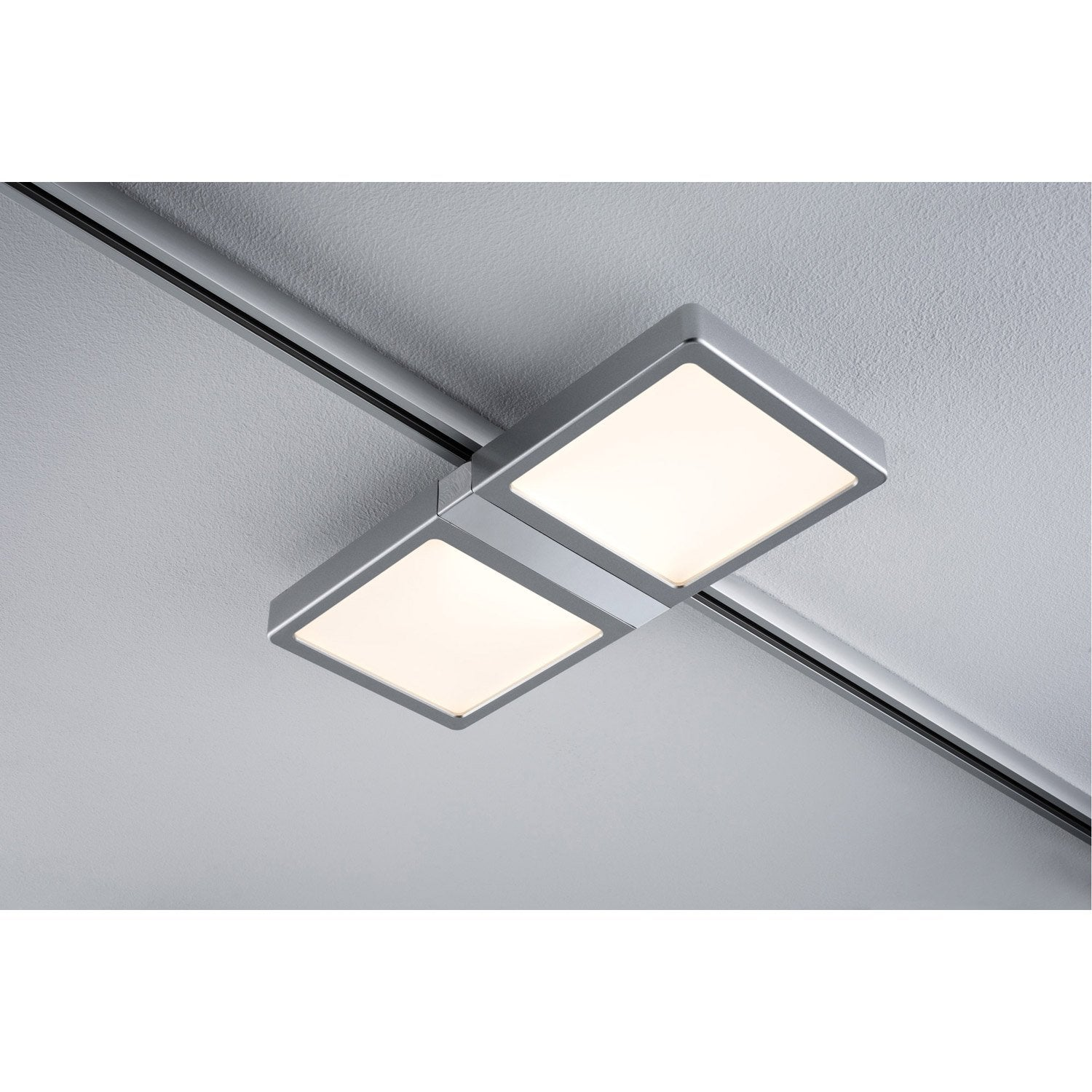 Spots And Suspensions For Rail Led Aluminum Double Panel Chrome