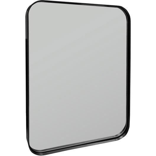 Miroir uyuni inspire noir x cm leroy merlin for Miroir 50 x 70 leroy merlin