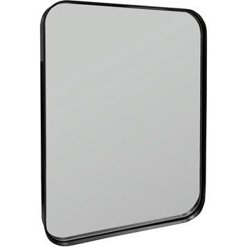 Miroir Uyuni INSPIRE, noir, l.50 x H.70 cm