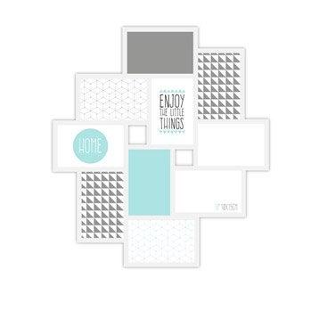Cadre multivue Detroit, 10 x 15 cm, blanc