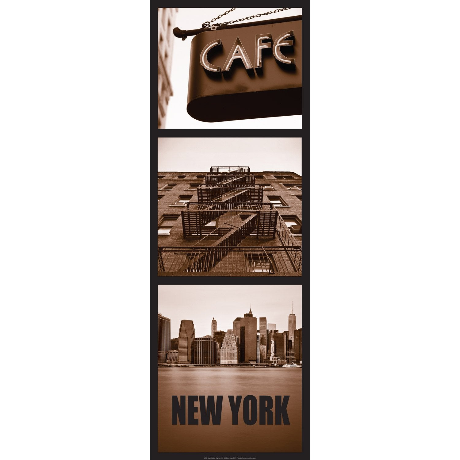 Affiche  new york city l.96 x H.35 cm