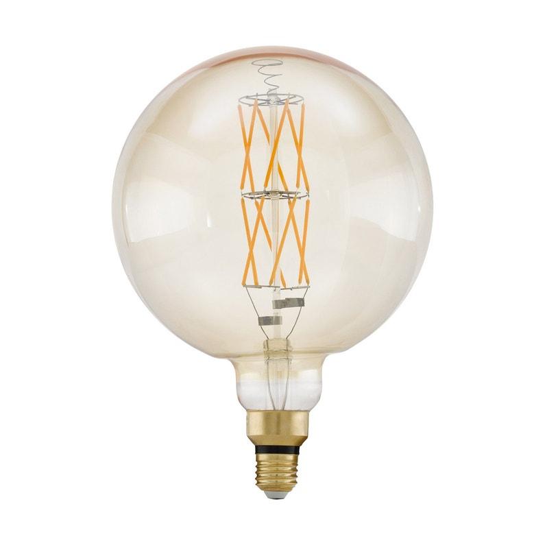 Ampoule Filaments Croises Led Globe 200mm Compatible Variateur