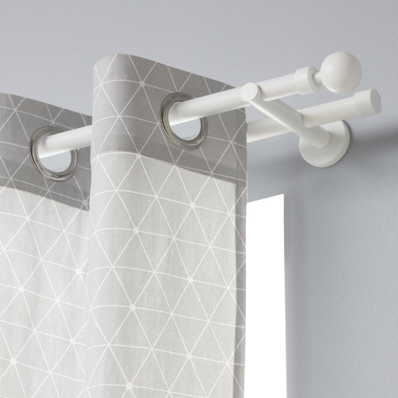 lot de 2 embouts inspire blanc mat pour tringle rideau mm leroy merlin. Black Bedroom Furniture Sets. Home Design Ideas