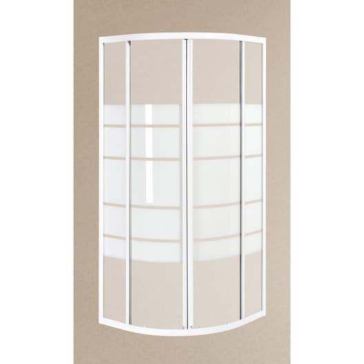 Porte de douche coulissante angle 1 4 de cercle 90 x 90 cm s rigraphi nerea leroy merlin - Porte de douche 90 ...
