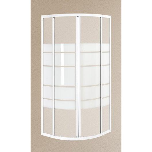 porte de douche coulissante angle 1 4 de cercle 90 x 90 cm s rigraphi nerea leroy merlin. Black Bedroom Furniture Sets. Home Design Ideas