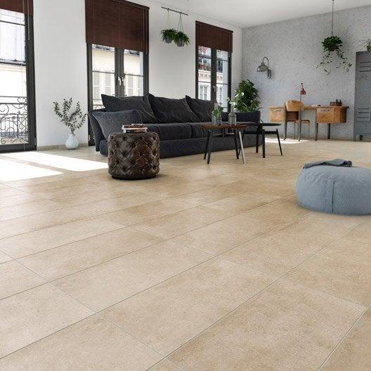 carrelage sol et mur beige effet pierre hier x cm leroy merlin. Black Bedroom Furniture Sets. Home Design Ideas