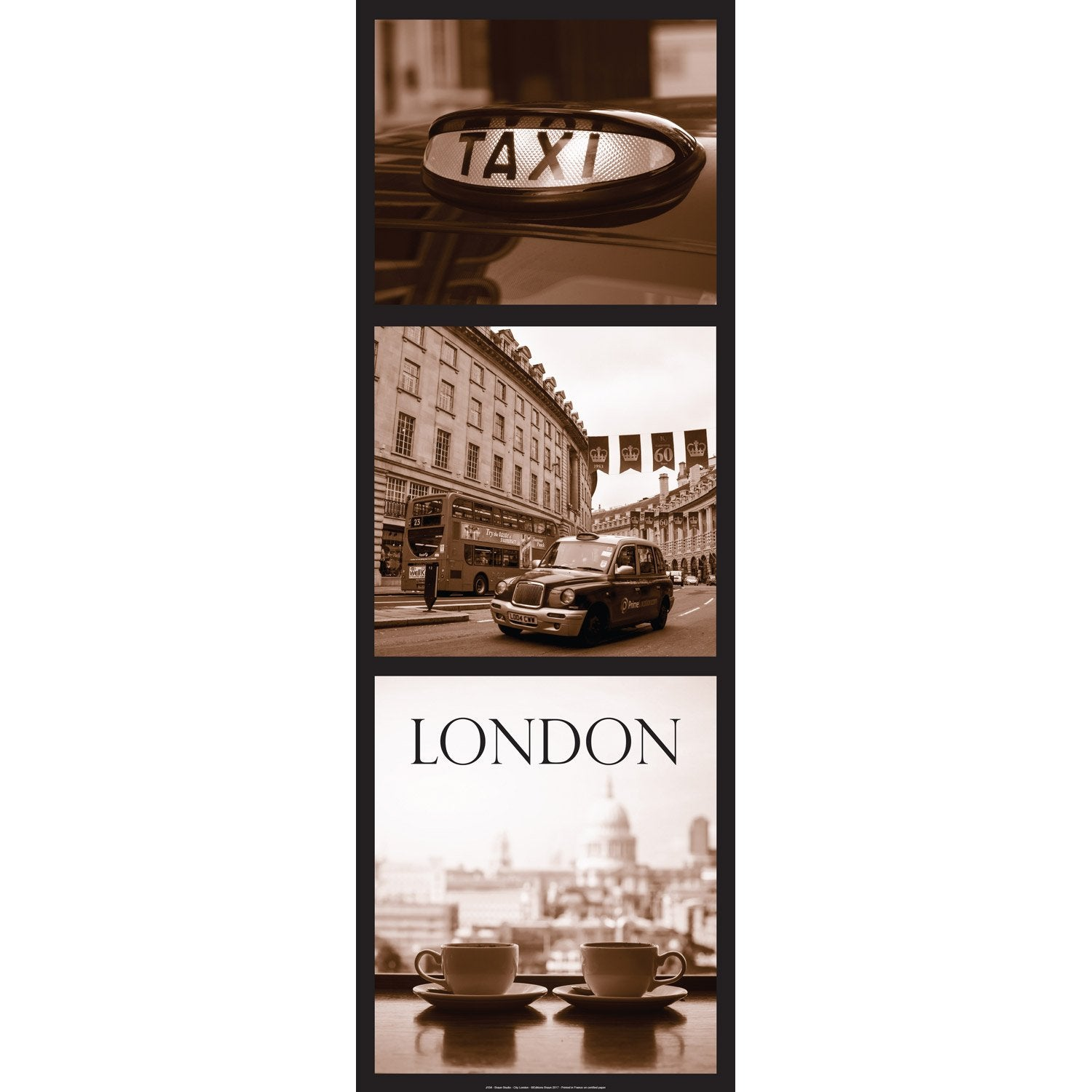 Affiche London City l.96 x H.35 cm