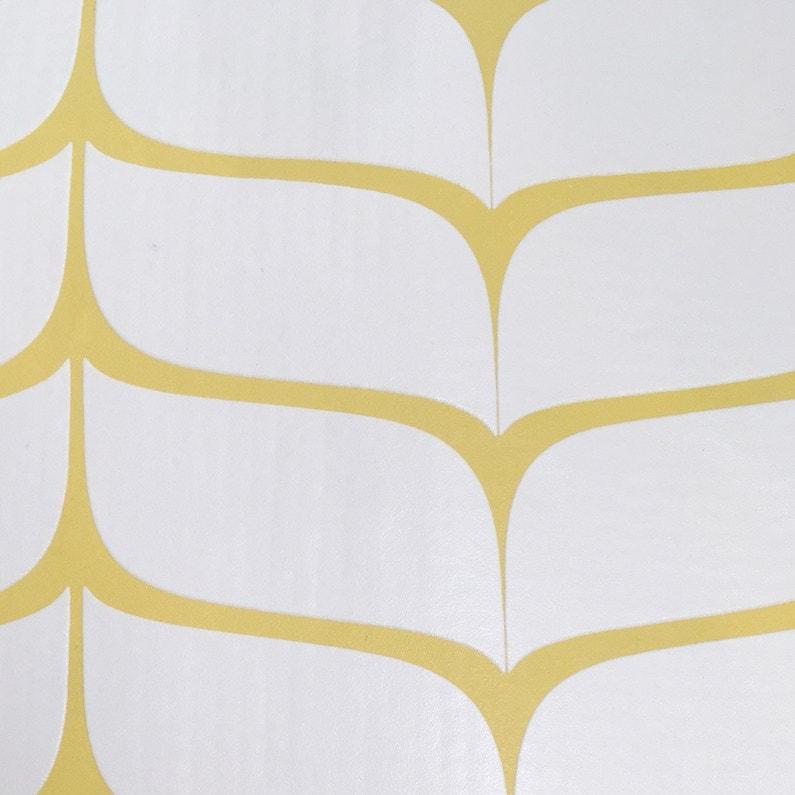 Papier Peint Vinyle Sur Intissé Feuille Jaune