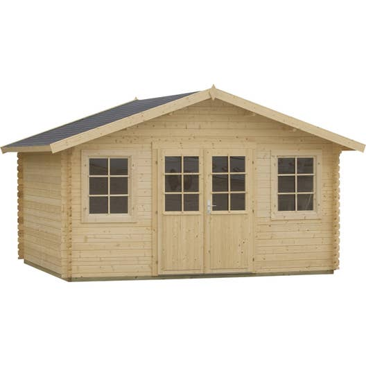 abri de jardin bois aloja m mm leroy merlin. Black Bedroom Furniture Sets. Home Design Ideas
