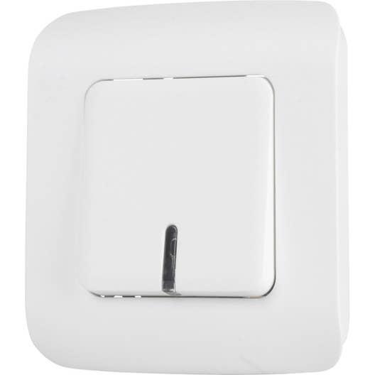 interrupteur va et vient voyant t moin ou lumineux cosy lexman blanc leroy merlin. Black Bedroom Furniture Sets. Home Design Ideas