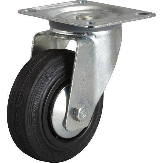 Roulette pivotante platine mm leroy merlin Roulette pour deplacer les meubles