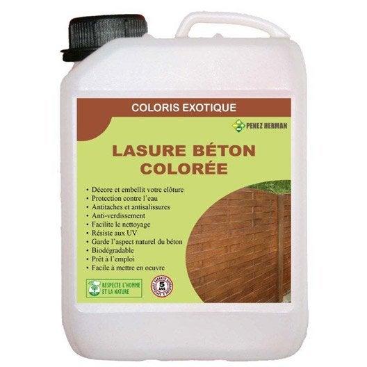 Lasure pour finition de cl ture imitation bois cm leroy merlin - Cloture de jardin beton imitation bois ...