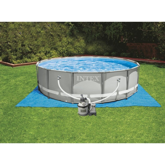 Piscine hors sol tubulaire ultra frame intex diam x for Piscine hors sol intex 5 49
