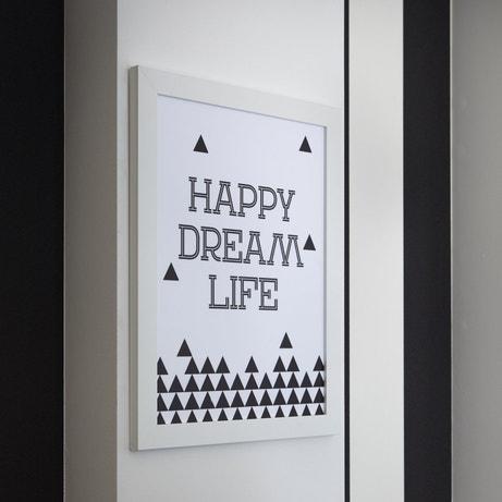 Un cadre qui illustre le bonheur en version graphique