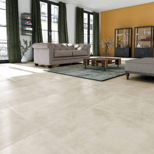 carrelage sol et mur beige effet b ton new cottage. Black Bedroom Furniture Sets. Home Design Ideas