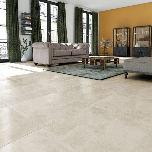 Carrelage sol et mur beige effet b ton new cottage for Carrelage 60x30