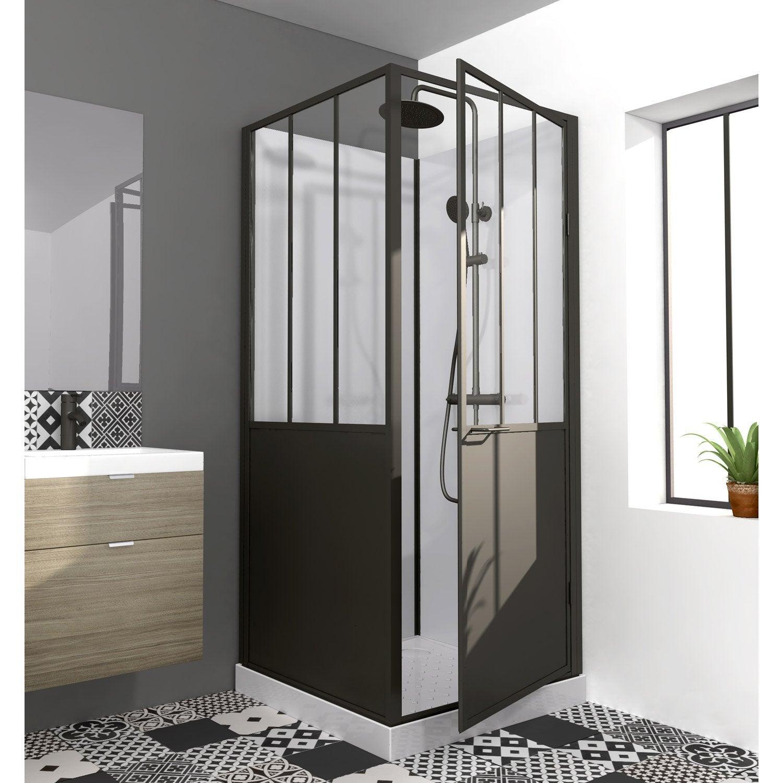 Cabine de douche carré L.90 x l.90 cm, Artelo