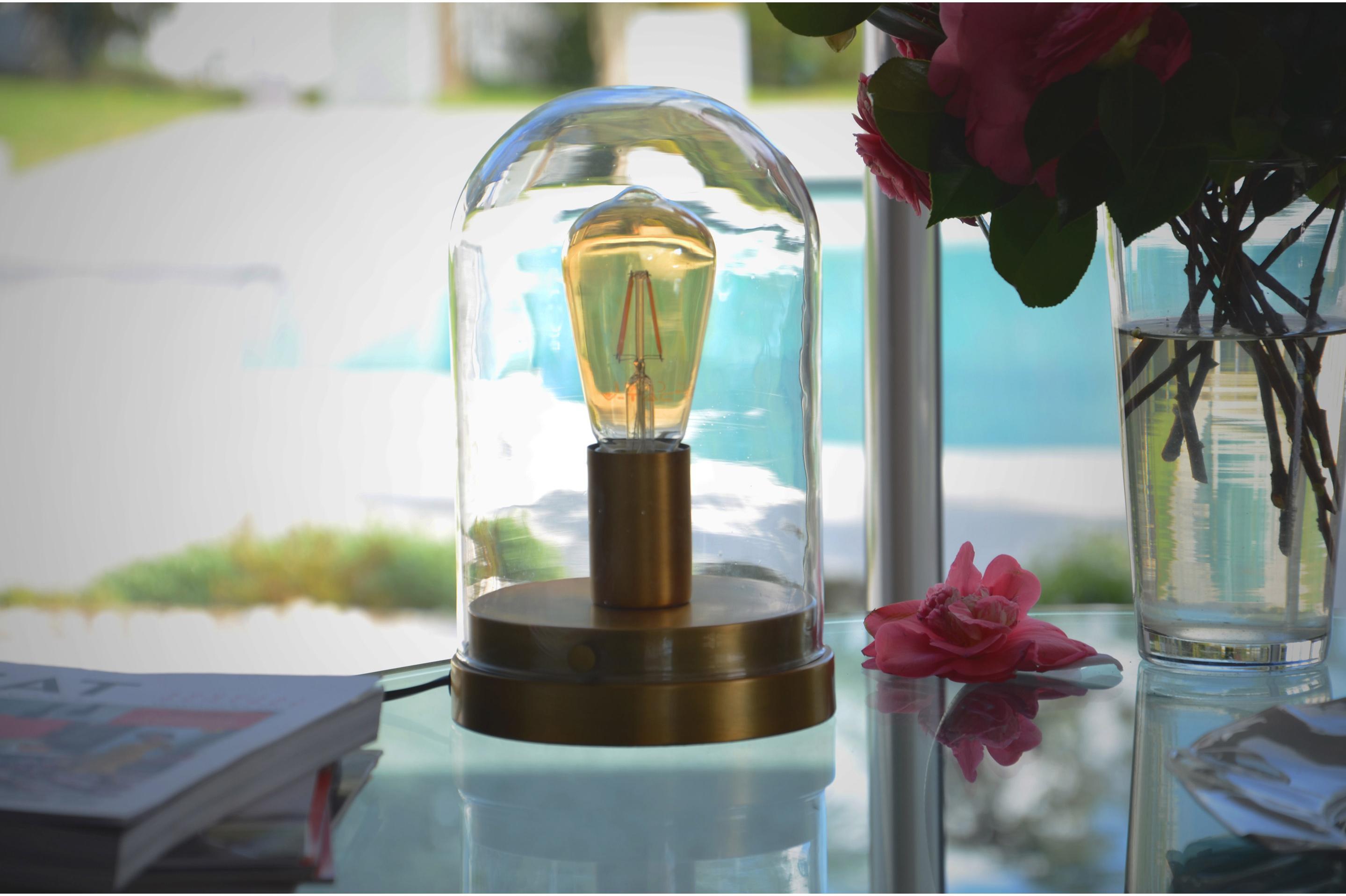 Lampe, e27 Lirton, verre transparent, 60 W