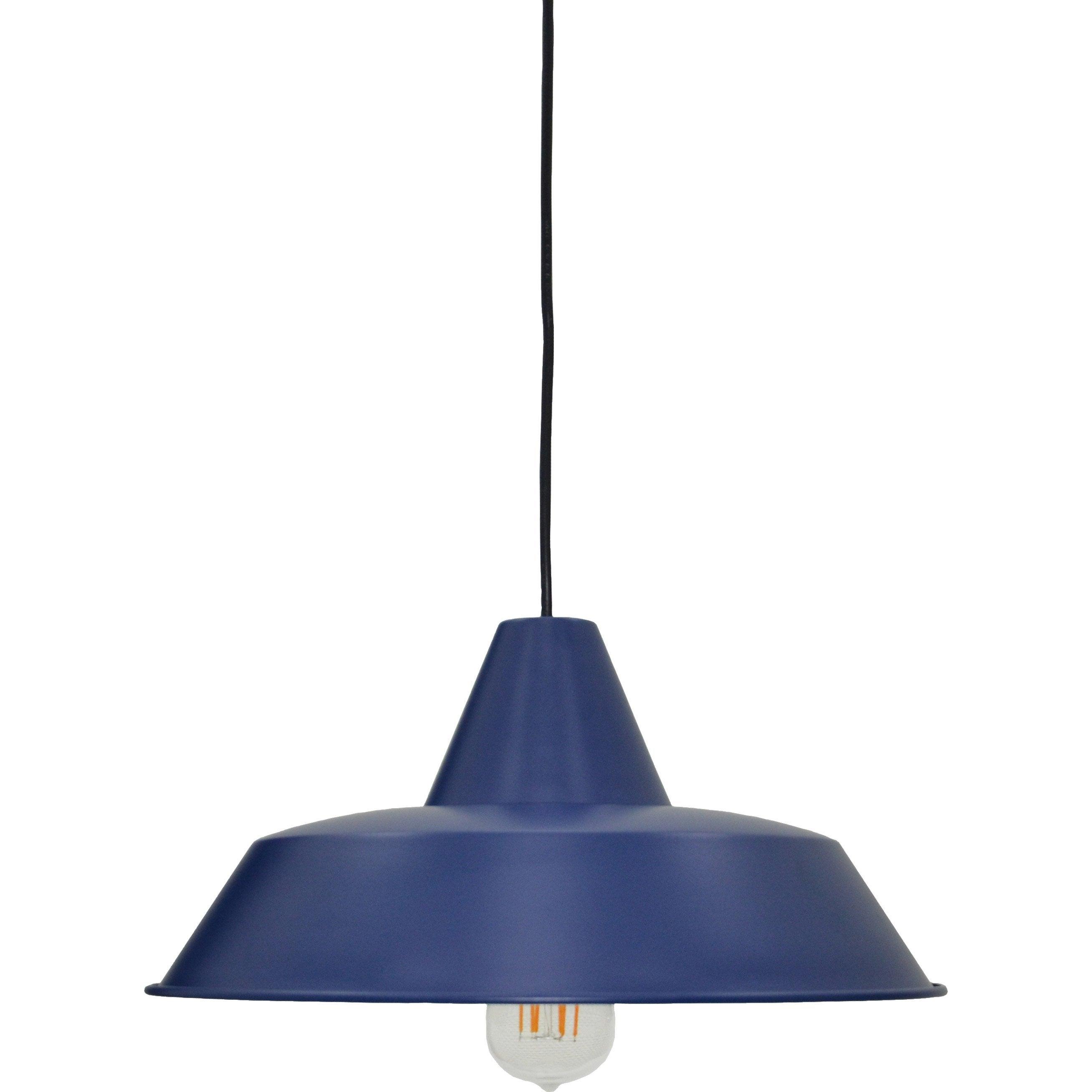 Métal 60 1 W Design SuspensionE27 Linduse Bleu X Boudet Nvm8n0w